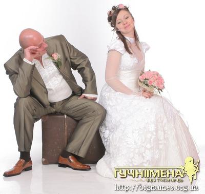 Олеся Теліженко з чоловіком Русланом, весільна сукня
